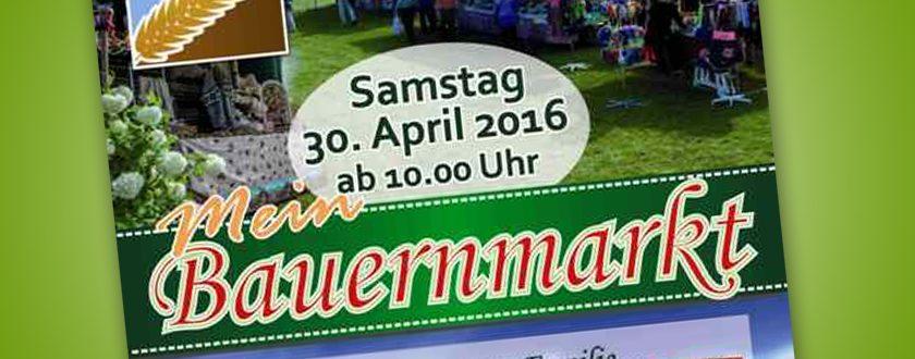 Bauernmarkt am 30. April 2016