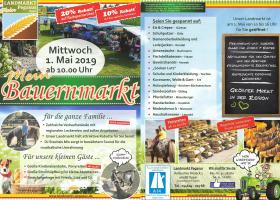 01. Mai. 2019 findet wieder unser alljährlicher Bauernmarkt statt