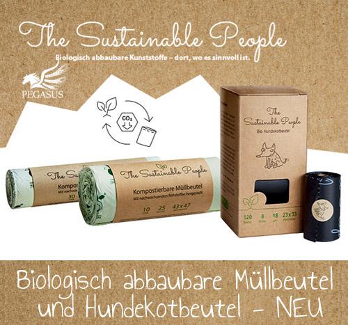 Biologisch abbaubare Müllbeutel und Hundekotbeutel